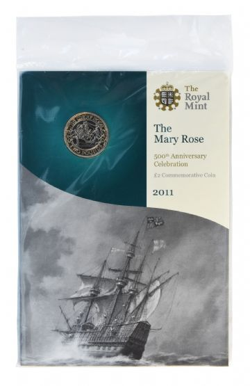 2011 £2 Mary Rose Brilliant Uncirculated pack